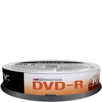 Sony DVD-R 4,7GB 16x, slimbox, 10ks (10DMR47SP)